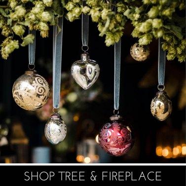 Tree & Fireplace