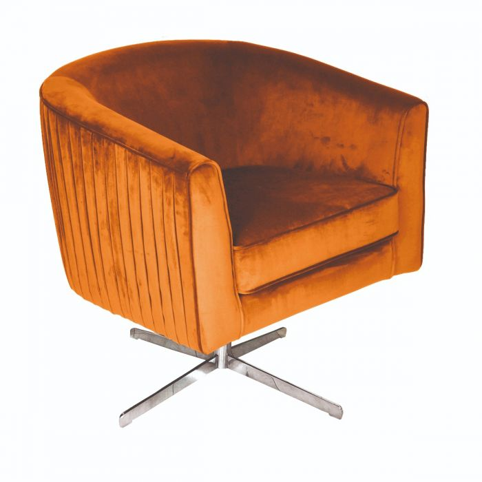 Pleasant Cannes Velvet Burnt Orange Chair Made To Order Squirreltailoven Fun Painted Chair Ideas Images Squirreltailovenorg