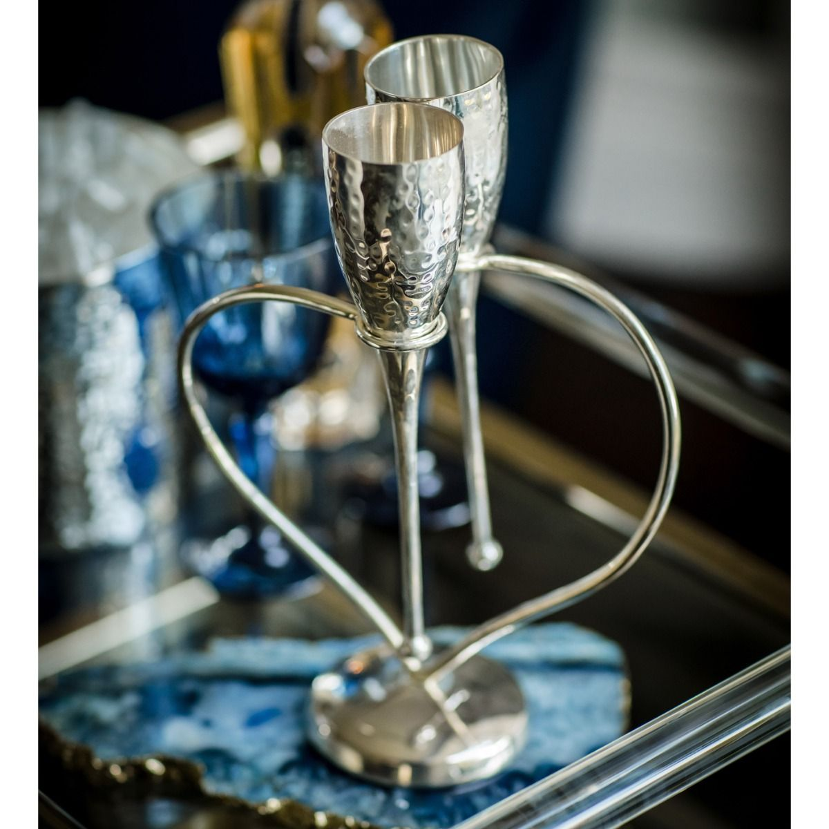 Culinary Concepts Entwined Heart Lovers/' Flutes
