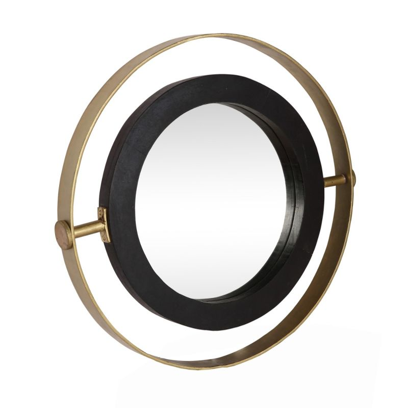 Black Frame Small Round Orion Mirror, Round Wood Frame Mirror Uk