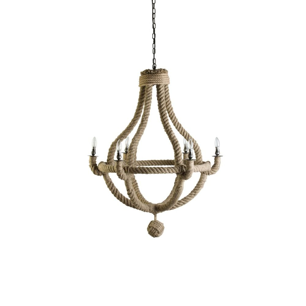 Small natural rope chandelier