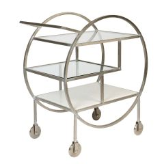 NEW! Mayfair Three Tier Drinks Trolley – Silver