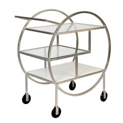 Silver Finish Mayfair Three Tier Drinks Trolley