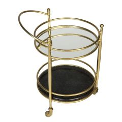 Brass Finish Kensington Two Tier Drinks Trolley