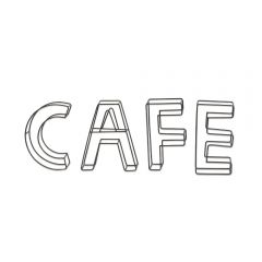 'Cafe' Wire Frame Art