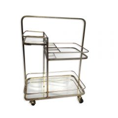 Lanesborough Three Tier Drinks Trolley - Gold Finish
