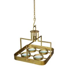 Galaxy Small Square Magnifying Chandelier - Antique Brass