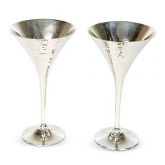 NEW! Pair of Hammered Cocktail Goblets