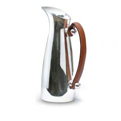 Leather Handled Water Pitcher
