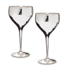Pair of Hammered Wine Goblets