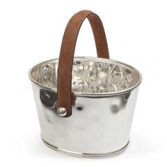 Leather Handled Ice Bucket