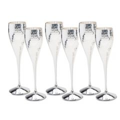 Set of Six Champagne Goblets - SAVE OVER £19