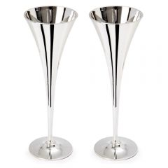 Pair of Polished Champagne Chalices