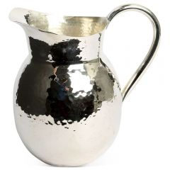 Medium Champagne Hammered Jug