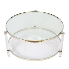 Large Art Deco Coffee Table with Acrylic Legs - Pre-order - Due Mid November