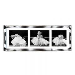Marilyn Monroe 'Ballerina' Triptych Framed Art Print