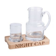 'Night Cap' Glass Jug & Tumbler
