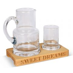 'Sweet Dreams' Glass Jug & Tumbler