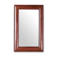 Havana Leather Mirror Frame - Cognac
