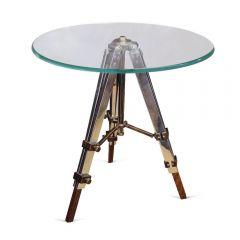 Radius Glass Side Table With Tripod Legs