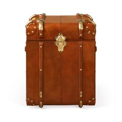 Havana Leather Small Side Trunk - Tan - Ex-Display