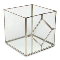 Large Art Deco Cube Candle Holder - Production Second