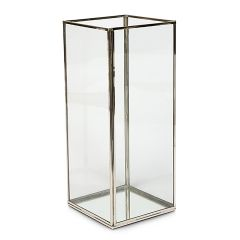 Cuboid Tall Glass Candle Holder - Production Second