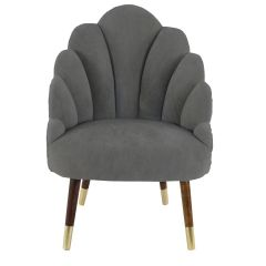 Chelsea Tulip Velvet Dark Grey Chair