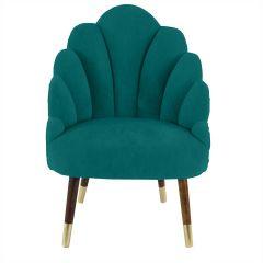 Chelsea Tulip Velvet Jade Green Chair