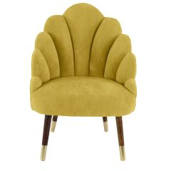 Chelsea Tulip  Velvet Lime Chair