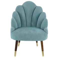 Chelsea Tulip  Velvet Sky Blue Chair