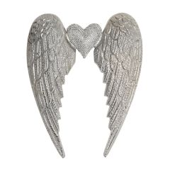 Large Angel Wing with Crystal Heart