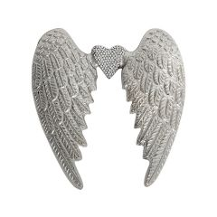 Small Angel Wing with Crystal Heart