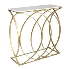 Concentric Circle Console Table – Shiny Brass