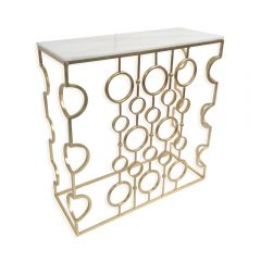 NEW! Galileo Marble Top Console Table