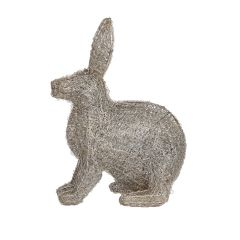 Large Silver LED Hare