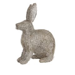 Small Silver LED Hare
