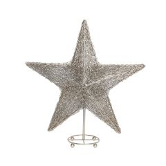 Medium Polished Nickel LED Table Star with Stand