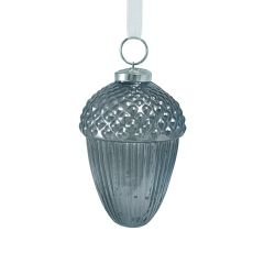 Large Smoked Navy Acorn Bauble