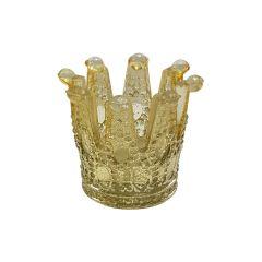 Large Gold Crown Tea Light Holder