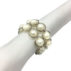 Pearl Beaded Napkin Ring