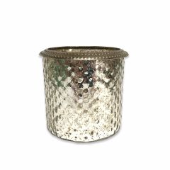 NEW! Small Gala Tea Light Holder - Antique Silver