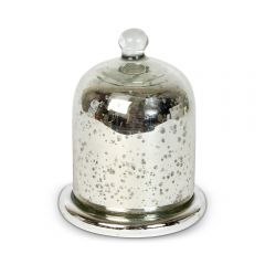 NEW! Small Antique Silver Wax Filled Candle Holder with Dome Lid