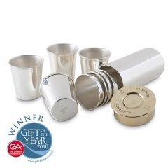 Set of Eight Stirrup Shot Cups & Cartridge Holder