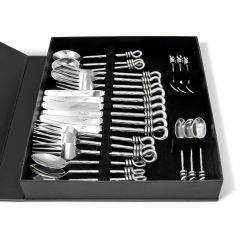 Hammered Knot 24 Piece Cutlery Set