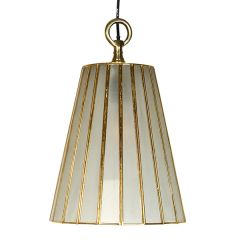 Small Frosted Glass Shade Pendant - Antique Copper Finish