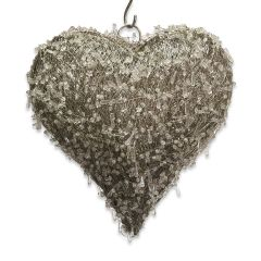 NEW! Medium LED Beaded Hanging Heart