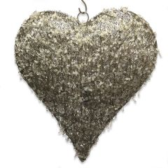 NEW! Extra Large LED Beaded Hanging Heart