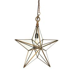 Antique Copper Medium Star Pendant