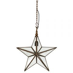 Antique Copper Small Star Pendant